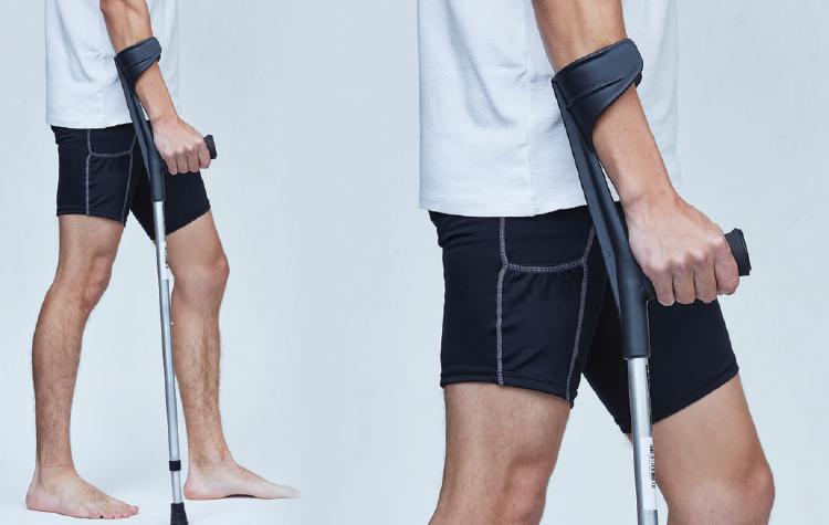 Mastercare Enterprises | NUOrtho Product Range - Crutches/ Walking Sticks, ALUMINIUM ELBOW CRUTCH - LIGHT DUTY [NU-AEC]